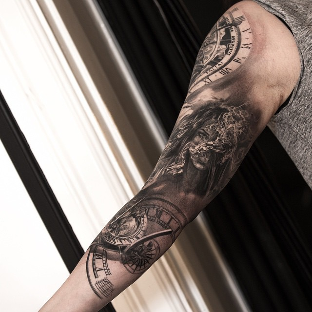 Casino tattoo sleeves 12