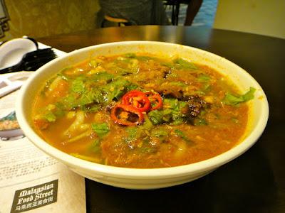 Penang Assam Laksa at Malaysian Food Street RWS