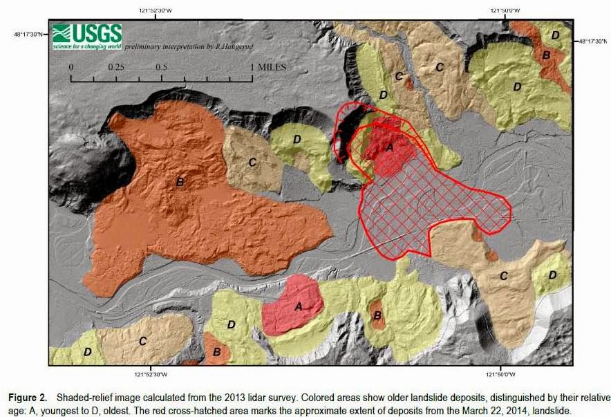 of Pre-2014 Landslide Deposits in the Vicinity of Oso, Washington