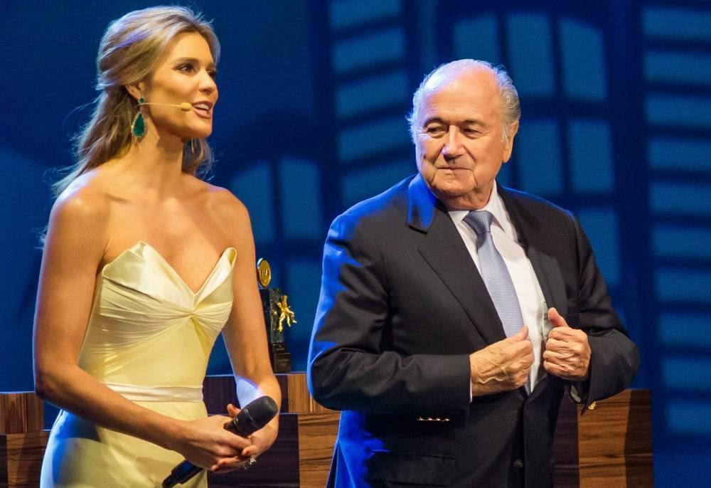 Fernanda Lima & Sepp Blatter.