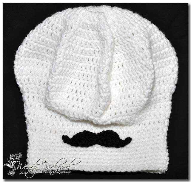 Im Happy Wen: Crochet Chefs Hat with Mustache!