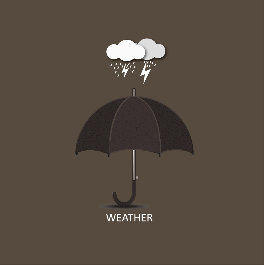 雨の天気マーク Weather mark of rain イラスト素材