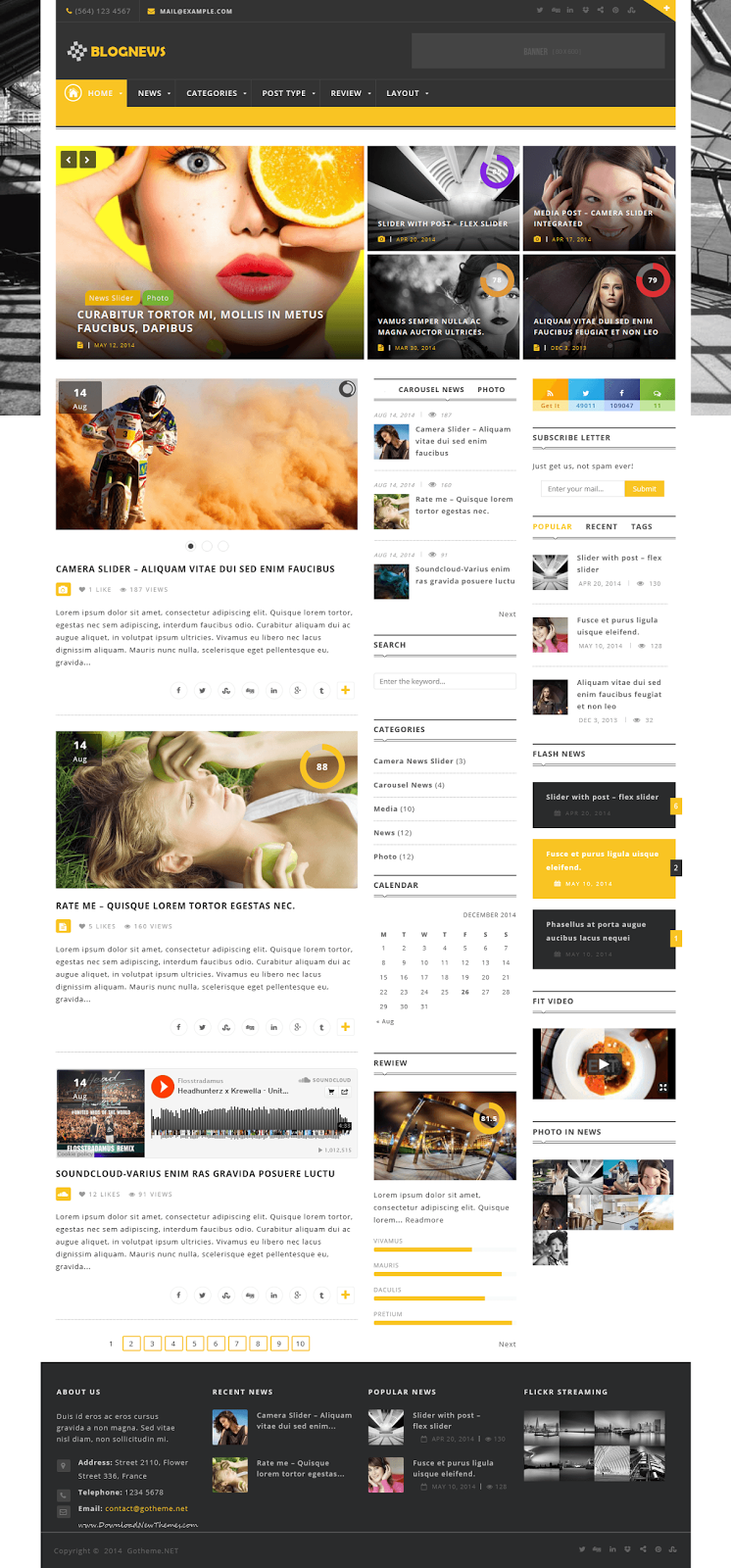 Responsive WordPress Magazine Themes 2015