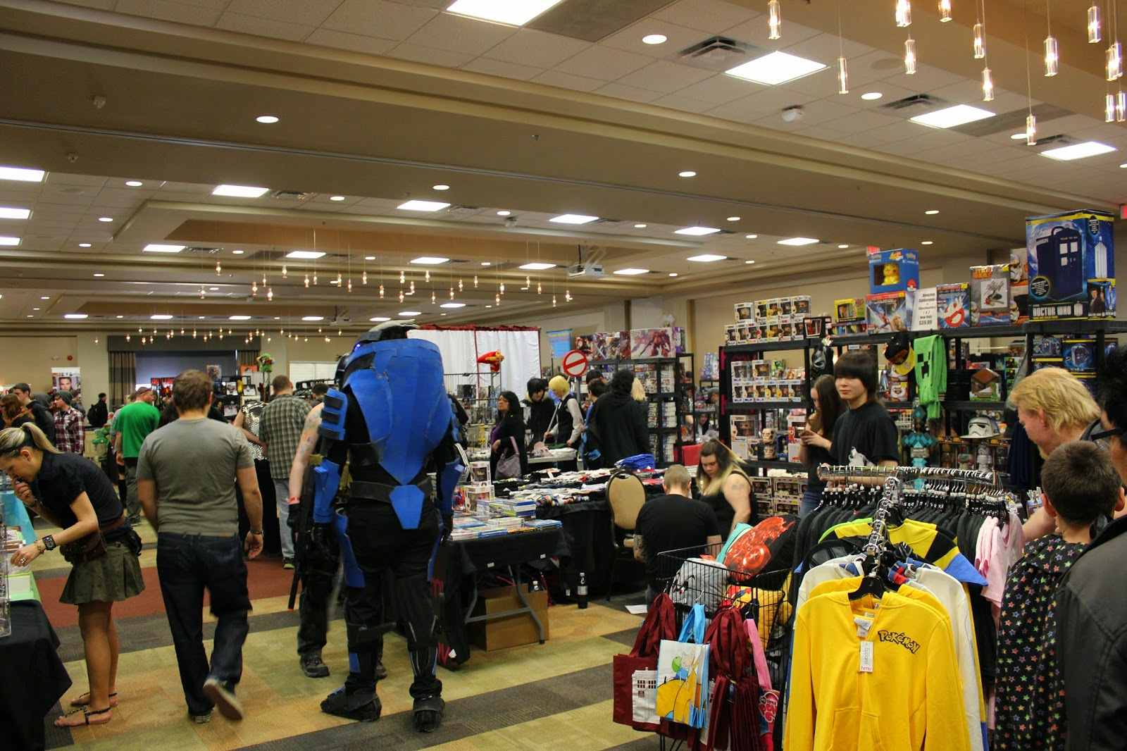 photo essay c wonderland jason takes comedy seriously people mill about at c4 central canadian comic con wonderland at the viscount gort hotel taking in the sites and shops