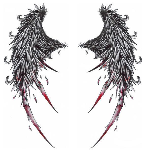 Tatuajes de alas completisimo