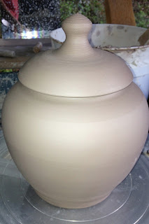 Wet Ware Covered Jar by Lori Buff