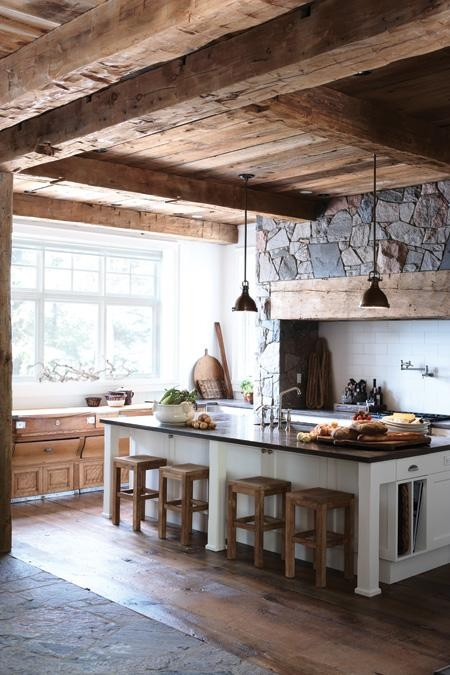 Simple Everyday Glamour Rustic Kitchen