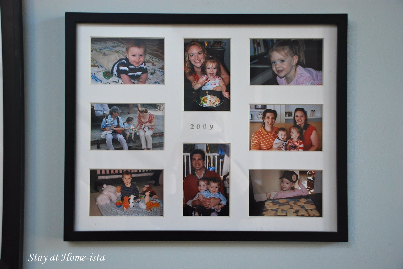 Stay at home ista yearly collage frames this is the easiest way to organize my yearly photos i still slide all the prints into albums you never know when school needs pictures hard copies of jeuxipadfo Choice Image