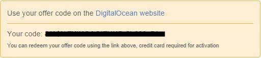 redem code digital ocean