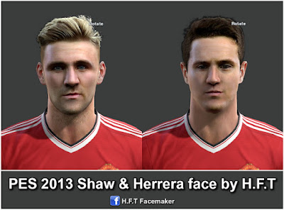 PES 2013 Shaw & Herrera face by H.F.T