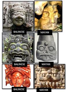 Ancient Balinese and Mayan