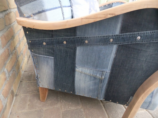 Jeanssessel recycelt
