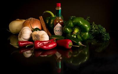 Vegetales para preparar una deliciosa Salsa Tabasco