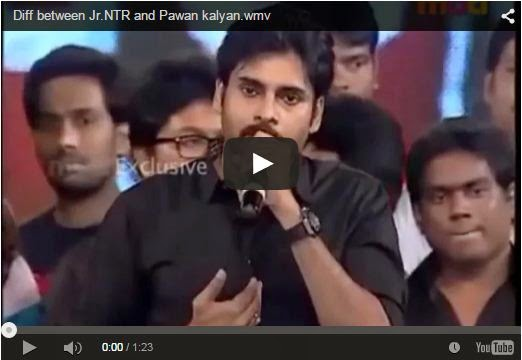 Diff between Jr.NTR and Pawan kalyan