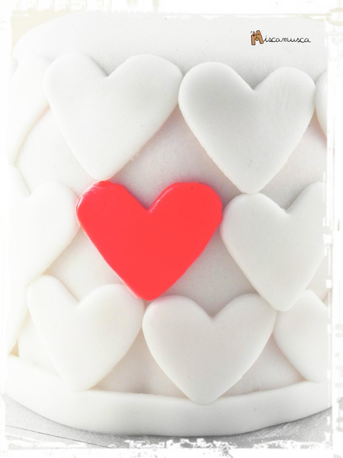 Pastel San Valentín fondant