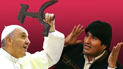 Papa Francisco y Evo Morales en Bolivia.