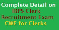 ibps clerk recruitment detail image for latestindiajobs