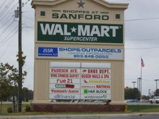 Walmart in sanford north carolina