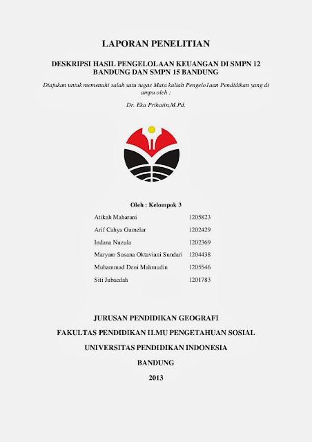 Contoh sampul makalah laporan tugas