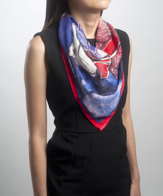 Hide n Seek Designer Keith Png and Juffri's scarf inspired by Chinese porcelain