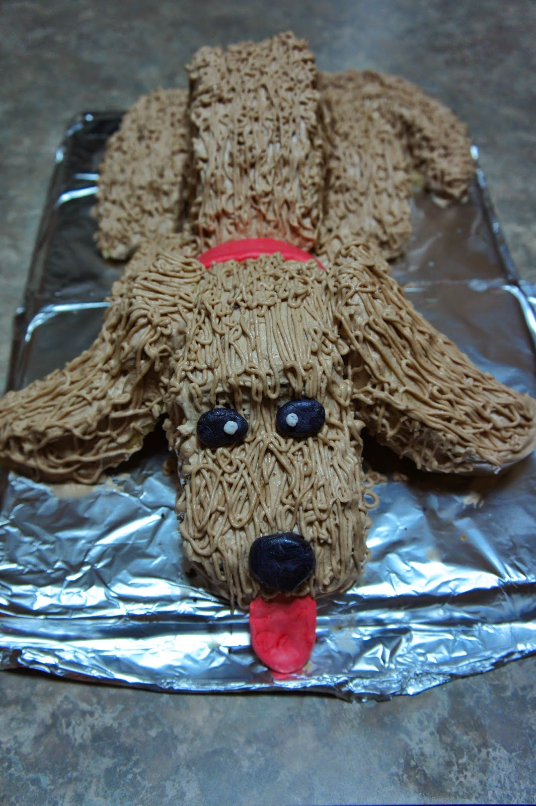 Puppy Cake with Whipped Cream Cheese Frosting: Savory Sweet and Satisfying