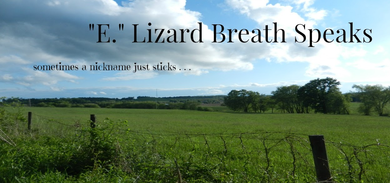". . .    "".E."" Lizard Breath Speaks"