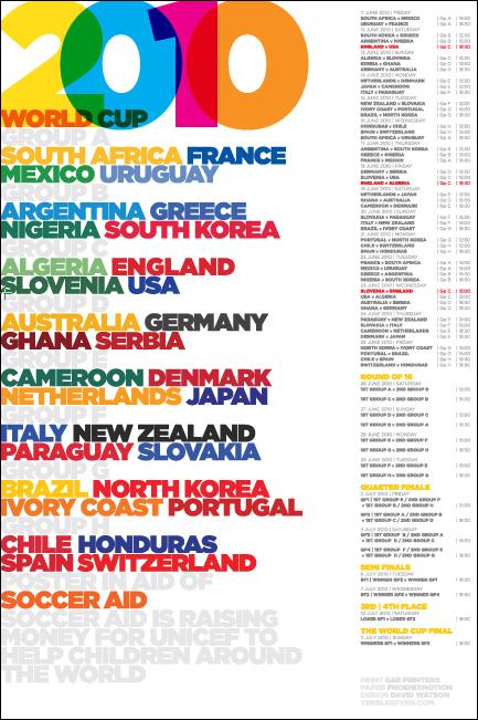 Calendar Poster Design : World cup calendar poster by david watson of design studio