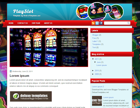 PlaySlot Blogger Theme