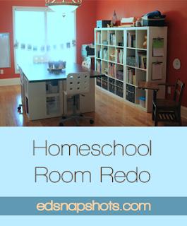 Homeschool Room Makeover : Everyday Snapshots