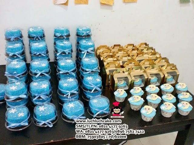 Mini Cake Elsa Frozen Souvenir Ulang Tahun Daerah Surabaya - Sidoarjo