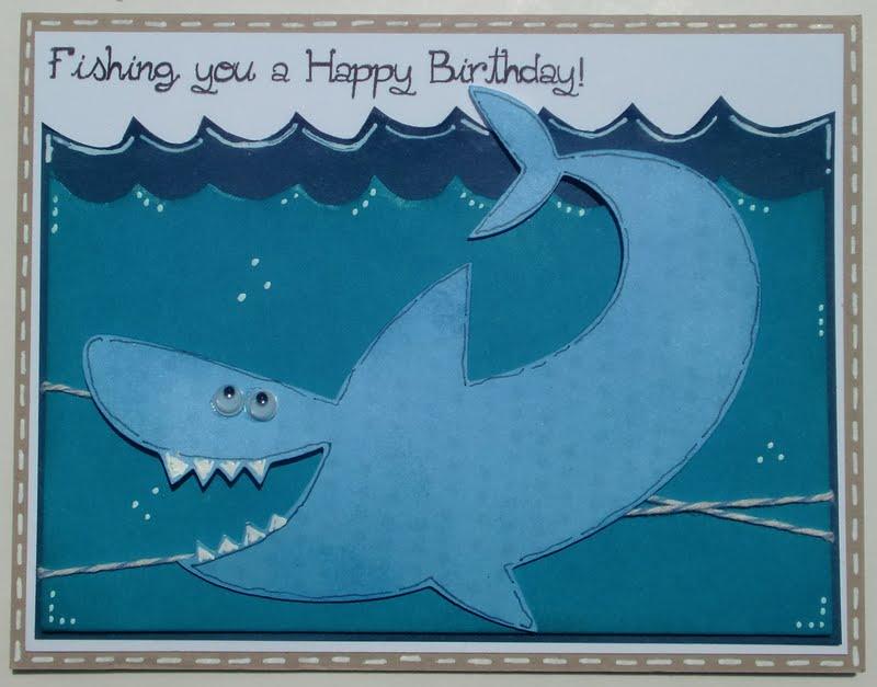Shark Birthday Card My 3 E Scrapbooking