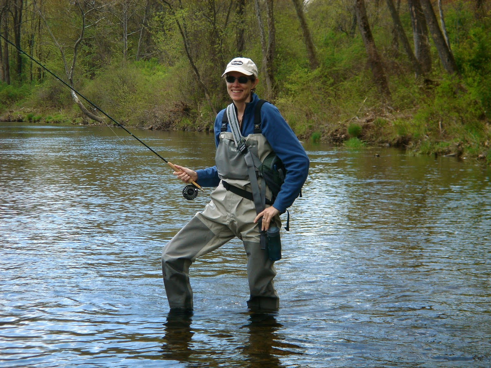2 flygirls last weekend fishing w friends for Farmington river fly fishing