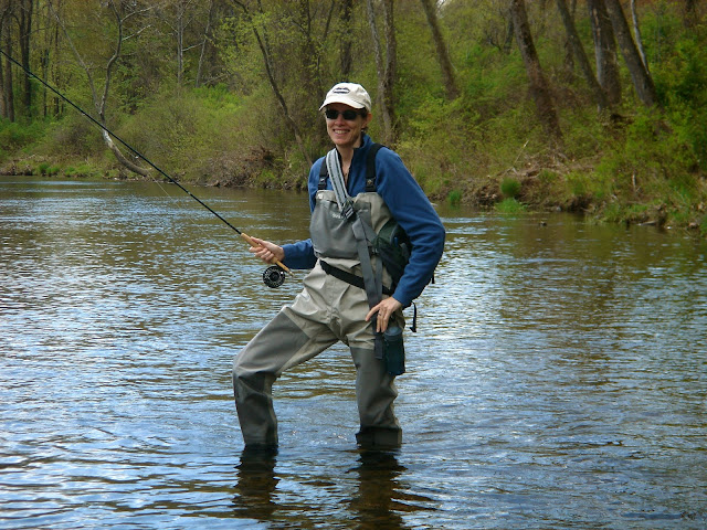 Marcy Beitle on the Farmington River