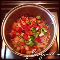 Cooking Afritadang Baboy (Pork Afritada)