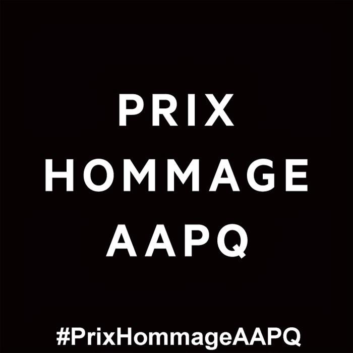 #PrixHommageAAPQ
