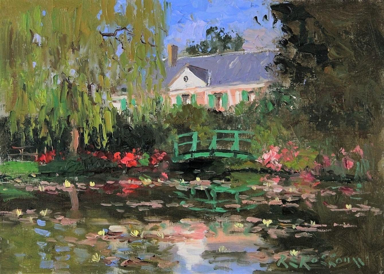 Roelof Rossouw Monets House and Pond Giverny