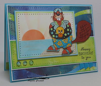 "North Coast Creations ""Pool Time Buford"" Card Designer Angie Crockett"