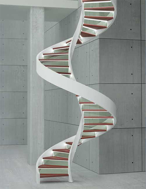 Staircase with shape spiral design design home design for Spiral stair design