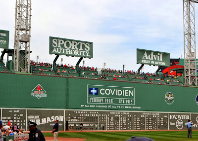 Fenway Park Green Monster. Boston, Massachusetts.