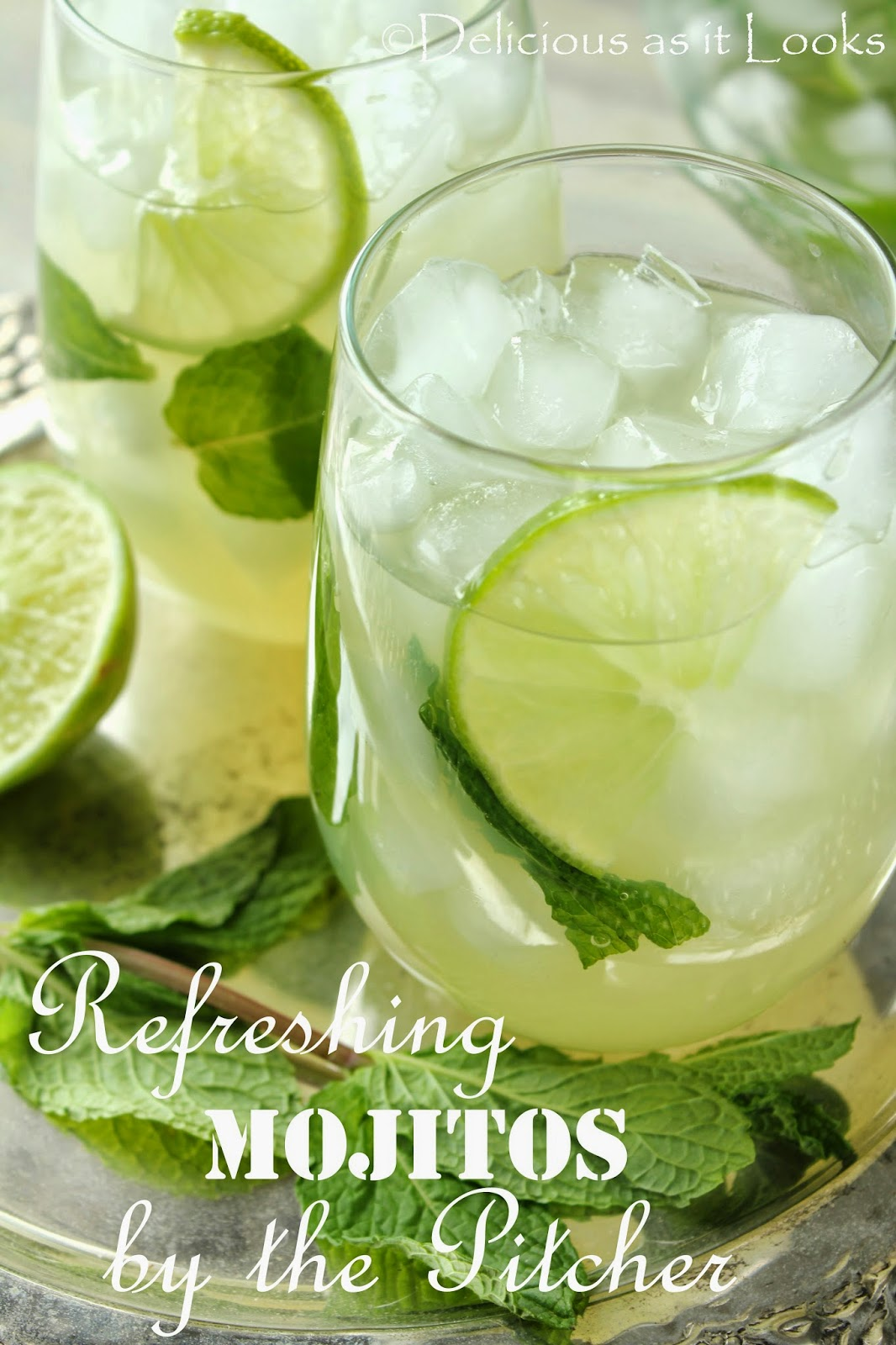 Refreshing Mojitos by the Pitcher  /  Delicious as it Looks