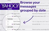 Nueva funcion Yahoo Mail agrupacion Fecha