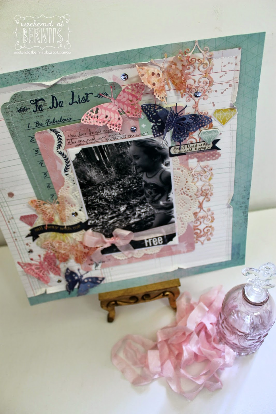 Free layout by Bernii Miller for BoBunny using the Sweet Life collection.