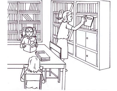 Kemudian mereka bertiga membaca buku yang mereka sukai, dan Tia sibuk