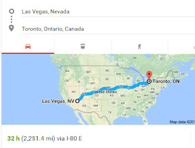 Las Vegas to Toronto April 1-6 2017