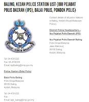 No Tel Balai Daerah Baling
