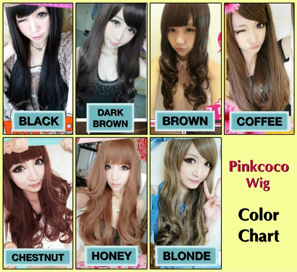 pinkcoco wig colorchart