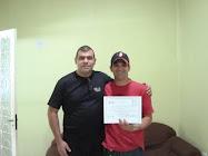 Empresário paulista e corredor de motocrosss, foi certificado no curso de alinhamento técnico.