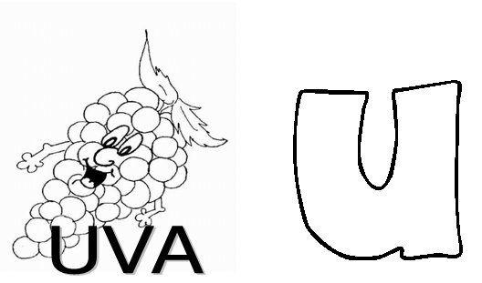 Colorir e Aprender Colorir Vogais - imagens para colorir das vogais