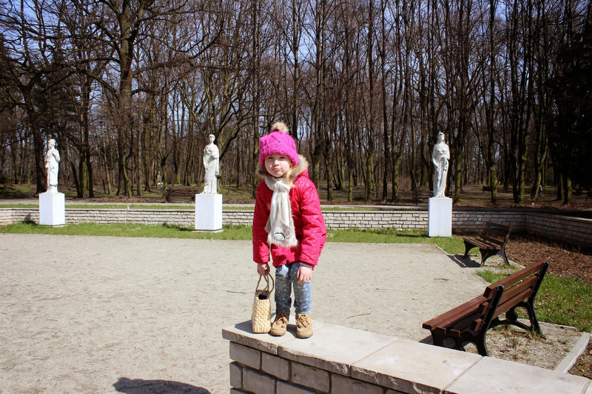 pink coat, my girl, exploring, parks, travel, poland, todaymyway.com