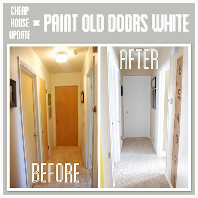 paint doors white in an old house. Black Bedroom Furniture Sets. Home Design Ideas